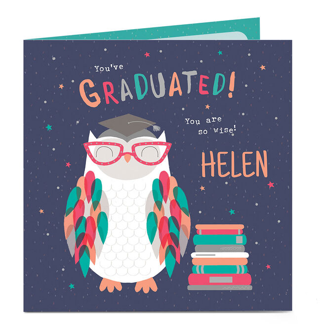 Personalised Graduation Card - You Are So Wise