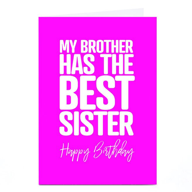 Personalised Punk Birthday Card - Brother From Sister