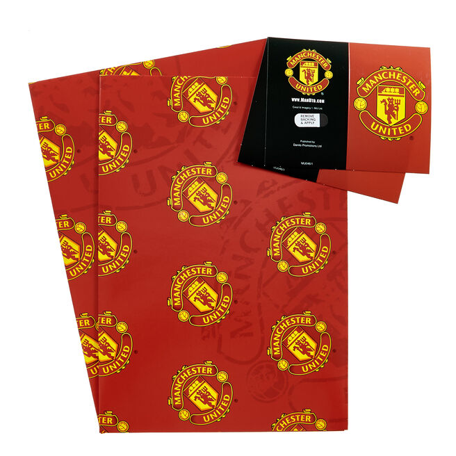 Manchester United Wrapping Paper & Gift Tags - Pack Of 2