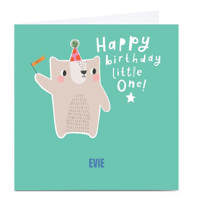 Personalised Art Kids Birthday Card - Little One