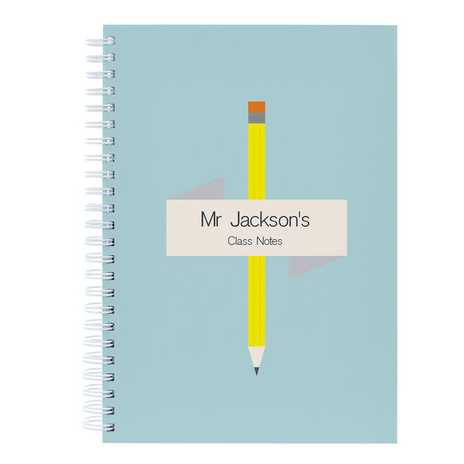 Personalised Pencil Notebook