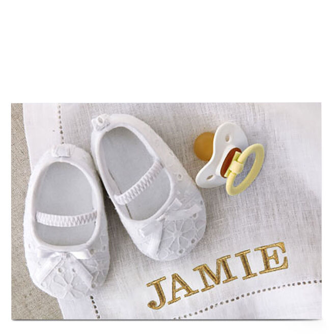 Personalised Card - Baby Shoes