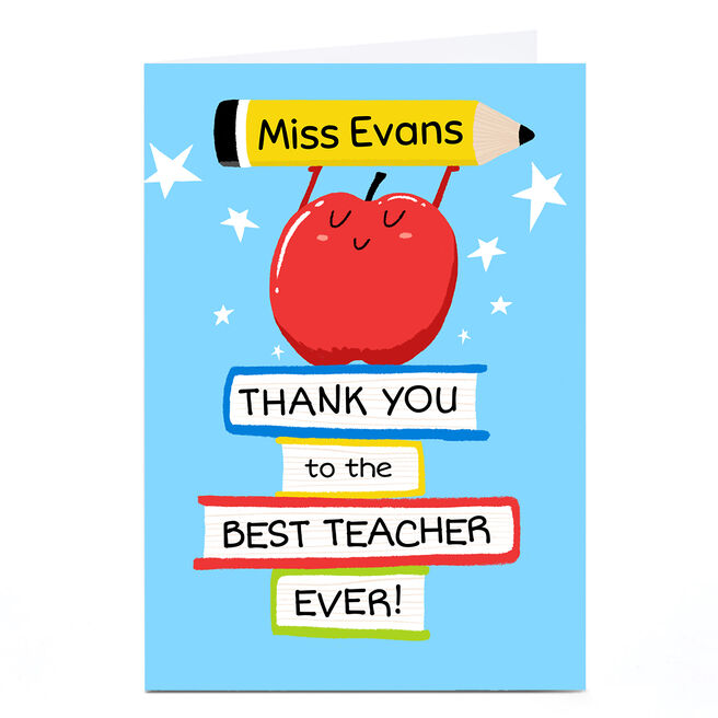 Personalised Hew Ma Card - Apple Thank You