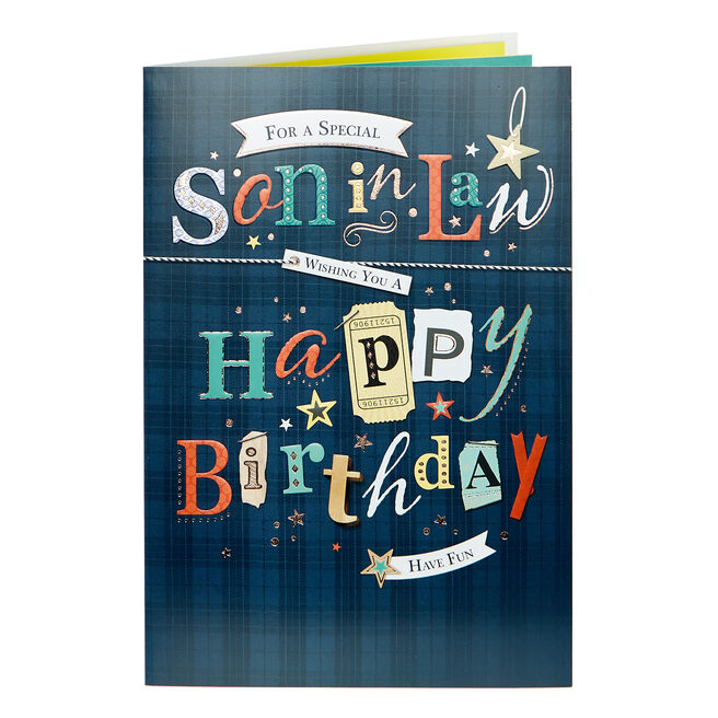Birthday Card - Son In Law Have Fun