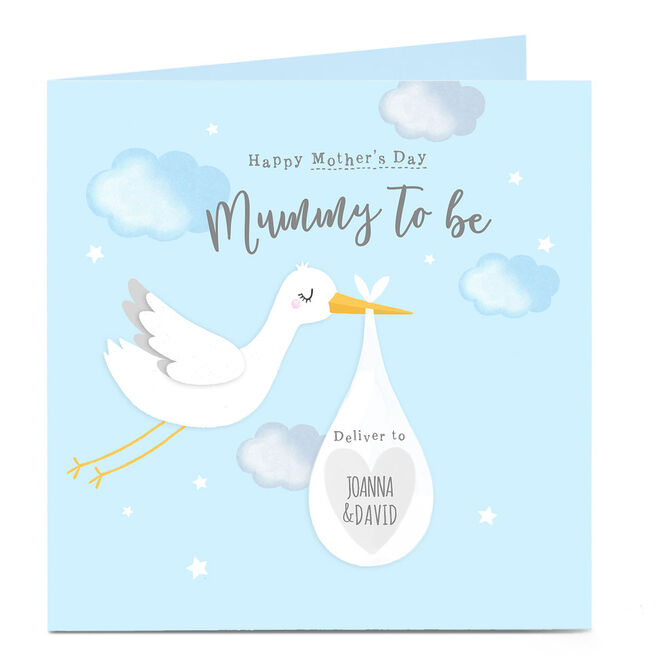 Personalised Mother's Day Card - Mummy To Be, Blue