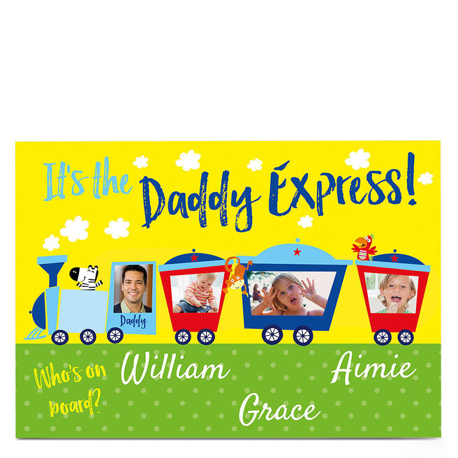 Photo Card - The Daddy Express - Three Names