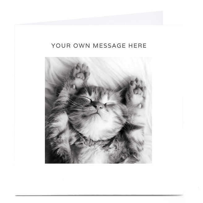 Personalised Card - Sleepy Cat