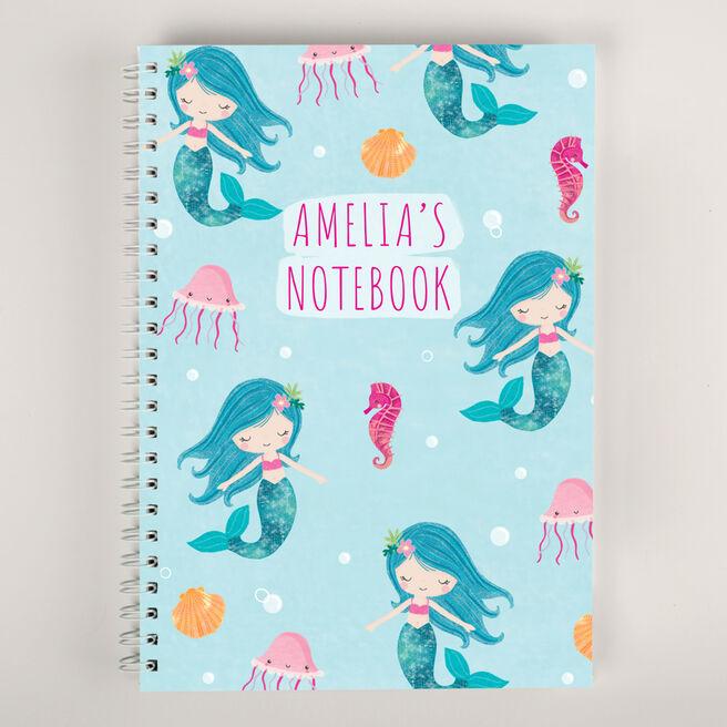 Personalised Notebook - Mermaid