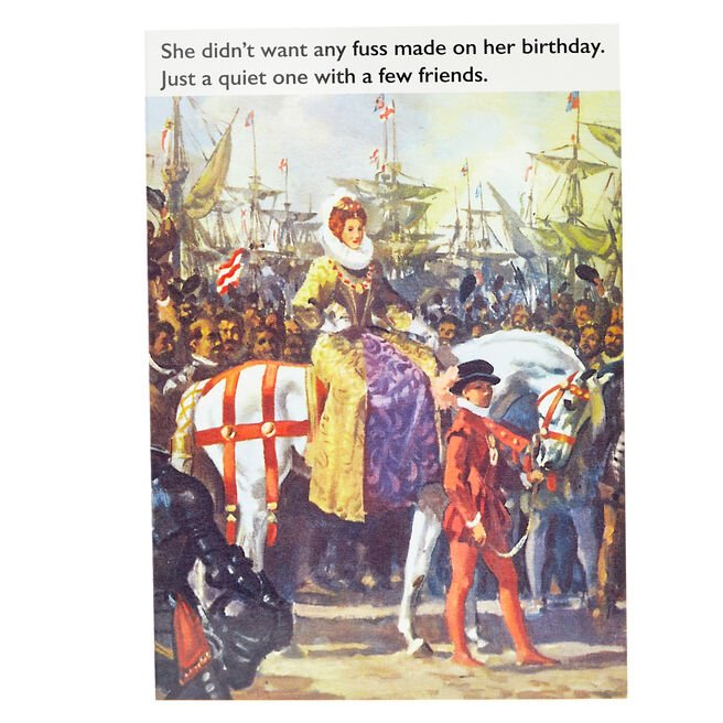 Ladybird Books Birthday Card - Just A Quiet One