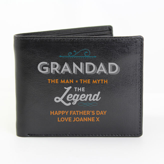 Personalised Wallet - Grandad The Legend