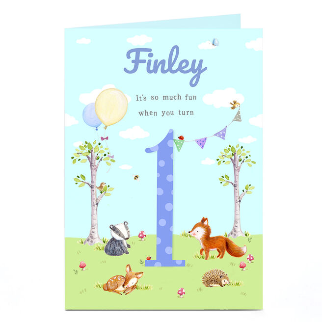 Personalised Card - 1st Birthday