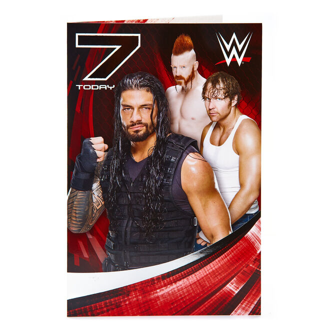 WWE 7th Birthday Card