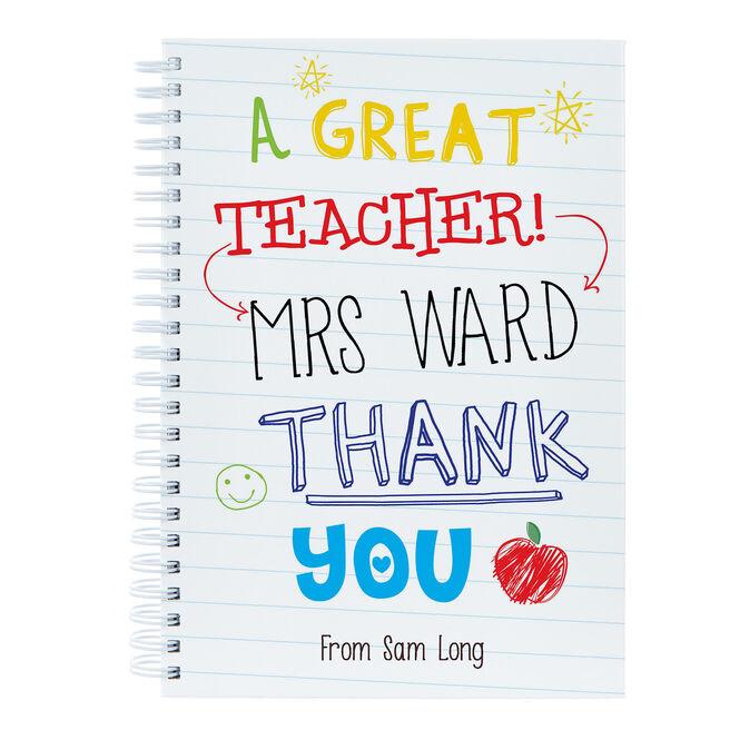 Personalised Great Teacher Notebook