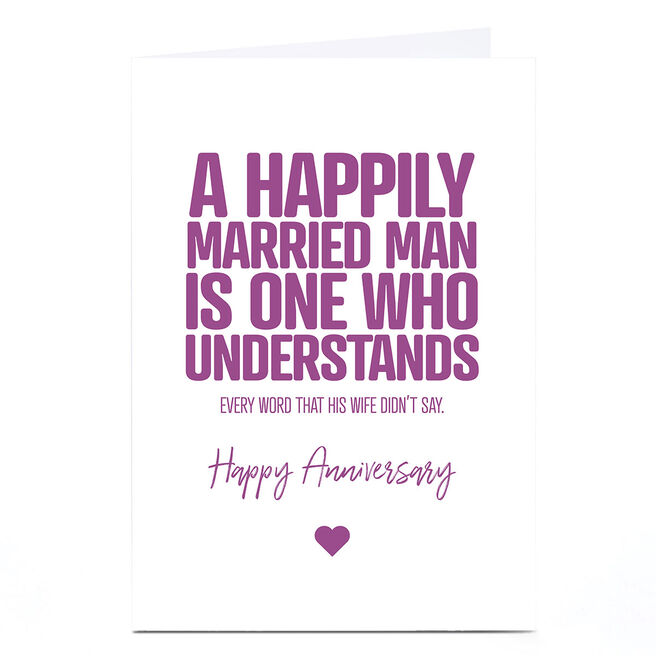 Personalised Punk Cards Anniversary Card - Married Man