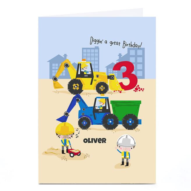 Personalised Rachel Griffin Birthday Card - Diggin' A Great Birthday, 3