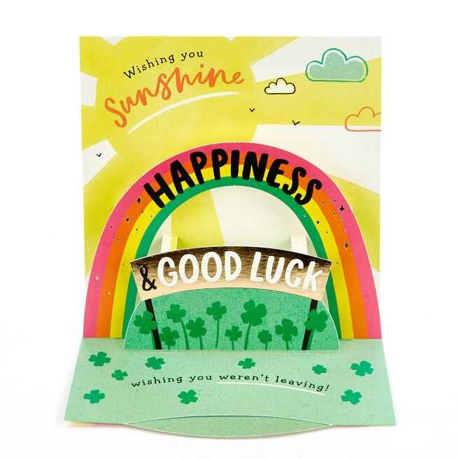 VIP Collection 3D Leaving Card - Happiness & Good Luck