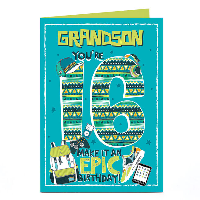 Personalised 16th Birthday Card - Epic Birthday