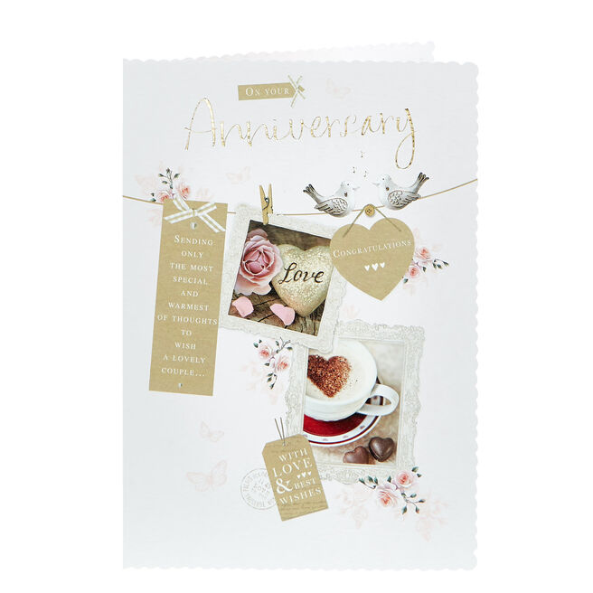 Anniversary Card - Love & Best Wishes