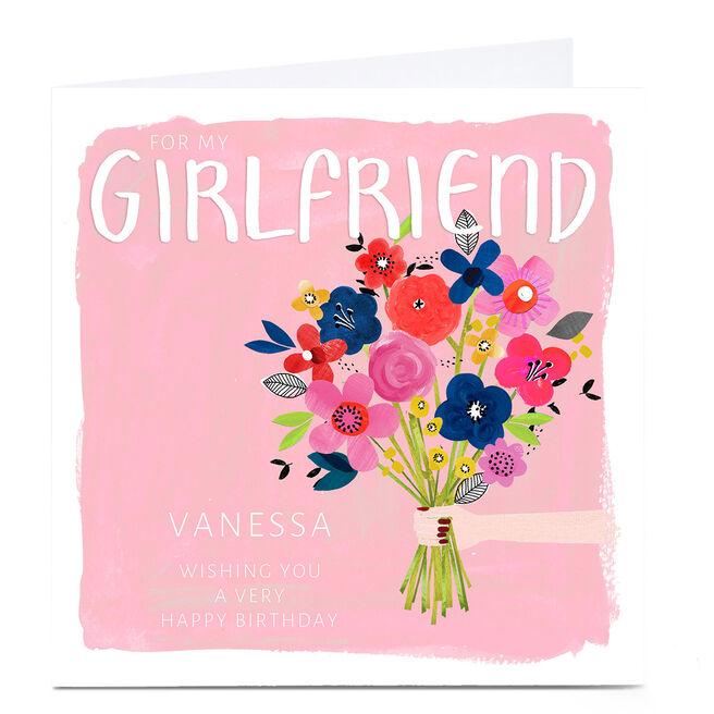 Personalised Kerry Spurling Birthday Card - Flowers, Girlfriend