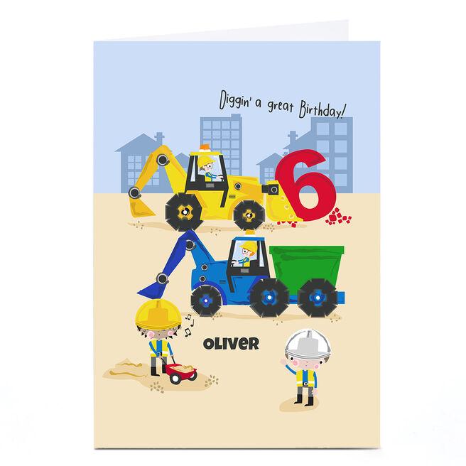 Personalised Rachel Griffin Birthday Card - Diggin' A Great Birthday, 6