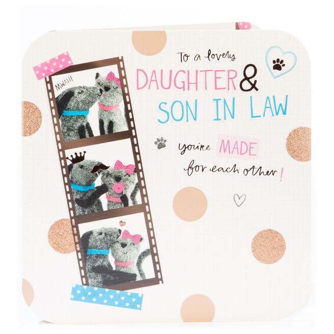 Platinum Collection Anniversary Card - Daughter & Son In Law