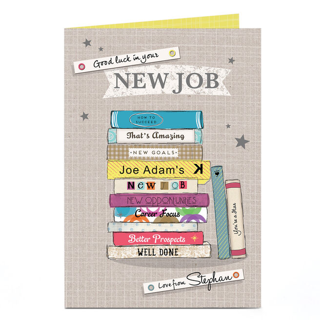 Personalised New Job Card - Books