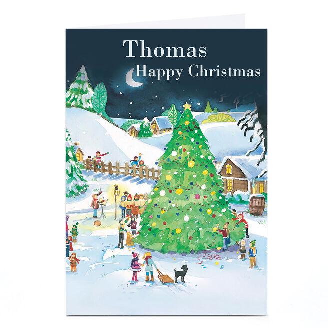 Personalised Christmas Card - Giant Christmas Tree