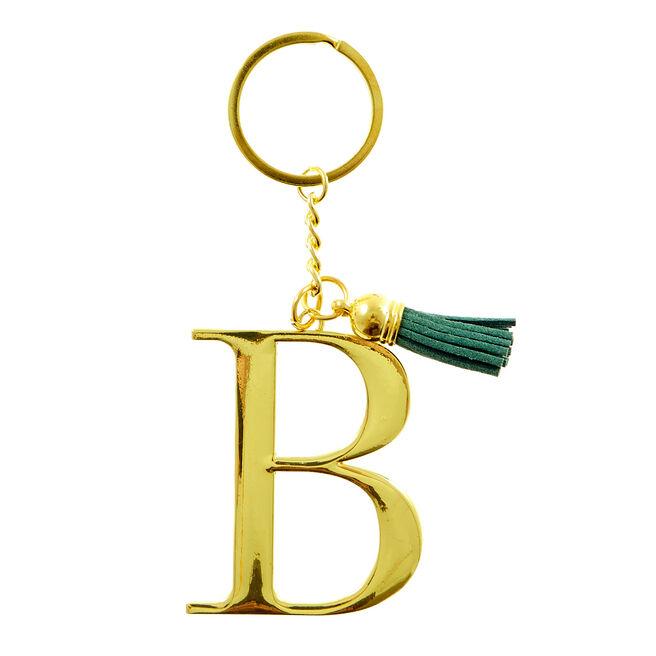 Letter B Key Ring