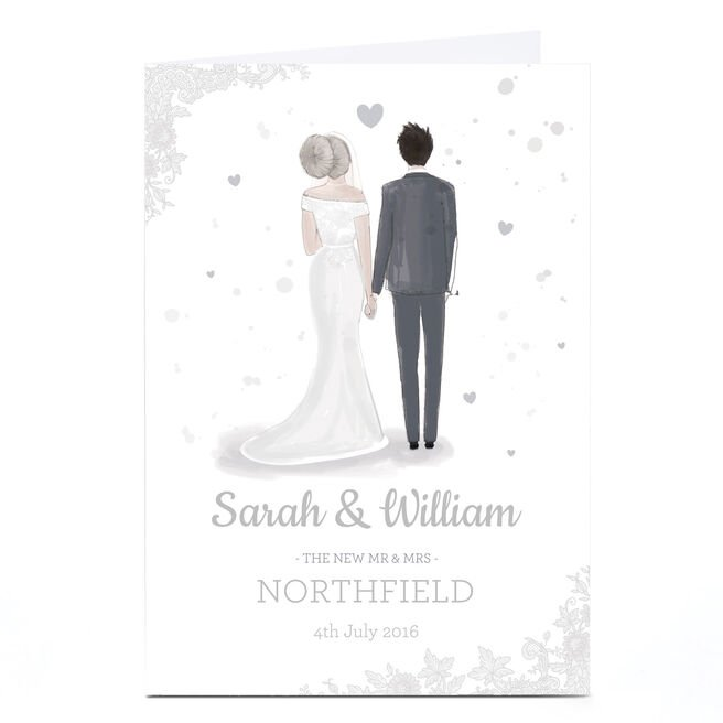 Personalised Wedding Card - The New Mr & Mrs
