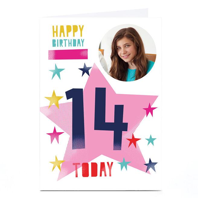 Photo Hello Munki Birthday Card - Age 14