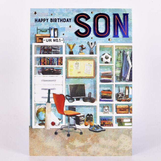 Signature Collection Birthday Card - Son Desk