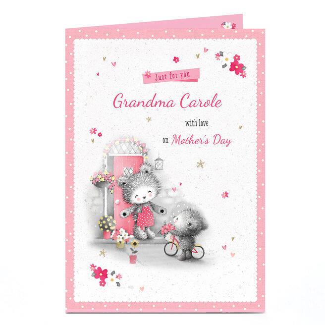 Personalised Mother's Day Card -  Just For You with Love