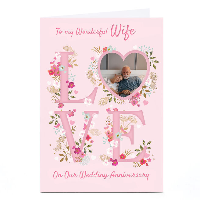 Photo Kerry Spurling Anniversary Card - Pink LOVE