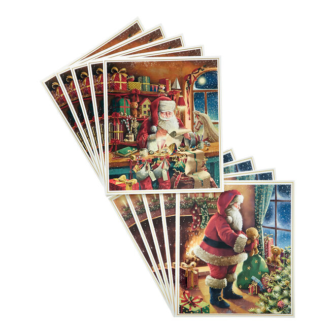 Box of 12 Deluxe Traditional Charity Christmas Cards - 2 Designs