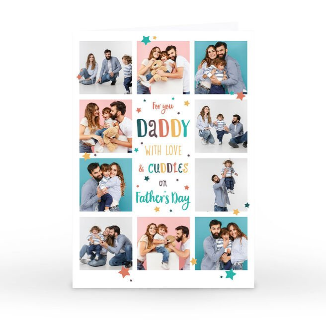 Personalised Father's Day Photo Card - With Love & Cuddles