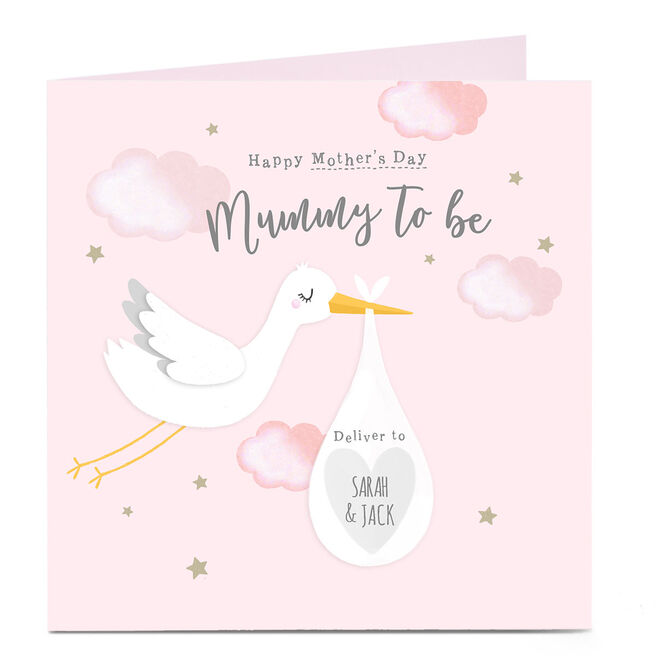 Personalised Mother's Day Card - Mummy To Be, Pink