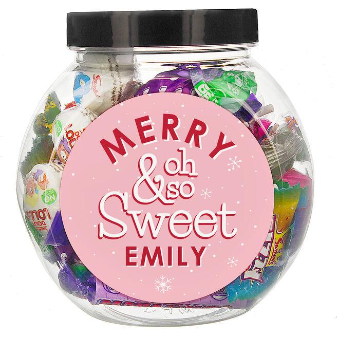 Personalised Merry & Oh So Sweet Jar