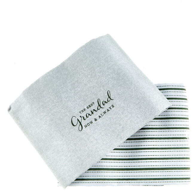The Best Grandad Hankies - Set Of 2