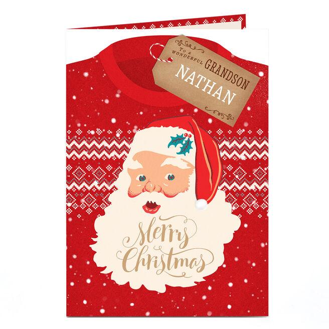 Personalised Christmas Card - Christmas Jumper Grandson