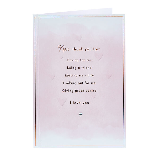 Mother's Day Card - Nan Thank You For...