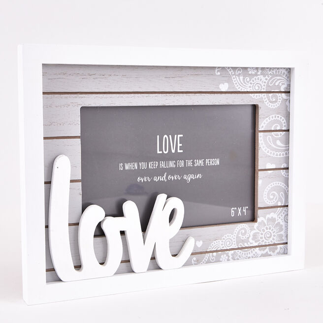 Wooden 'Love' Photo Frame