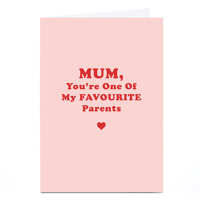 Personalised Phoebe Munger Mother's Day Card - One of My Favourite
