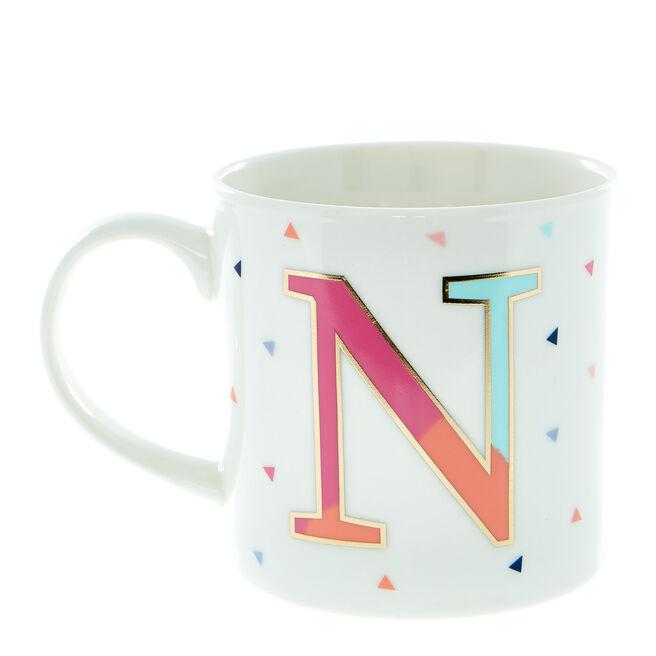 Letter N Alphabet Mug