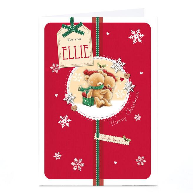 Personalised Christmas Card - Teddy Bear