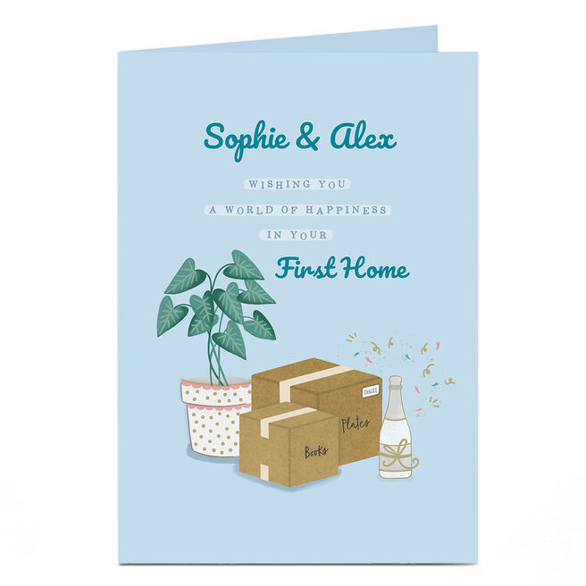 Personalised New Home Card - First Home