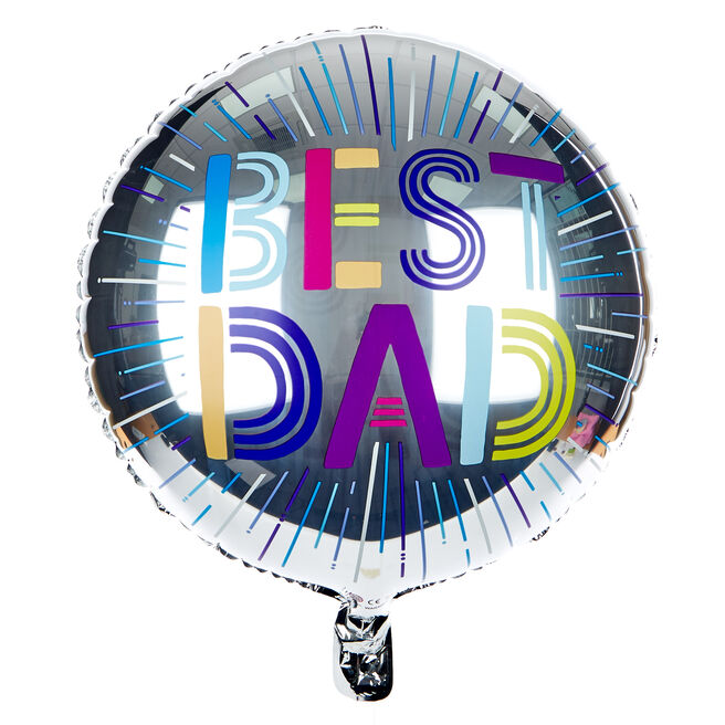 Best Dad 18-Inch Foil Helium Balloon