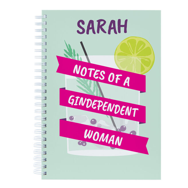 Personalised Notebook - Notes Of A Gindependent Woman