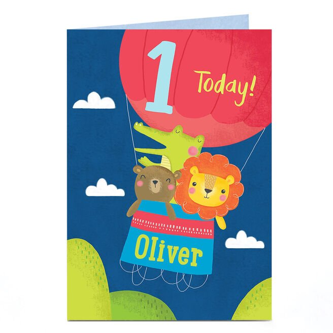 Personalised Any Age Birthday Card - Hot Air Balloon