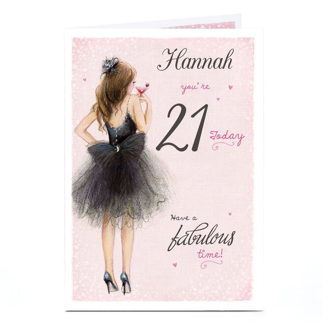 Personalised Any Age Birthday Card - Black Tutu