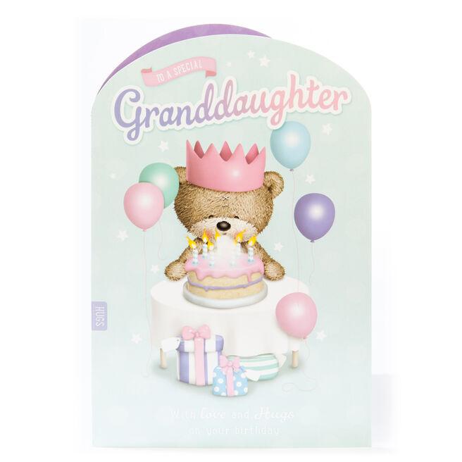 Giant Hugs Bear Birthday Card - Granddaughter